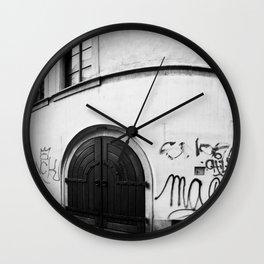 Doors: Prague, Czech Republic.  Wall Clock