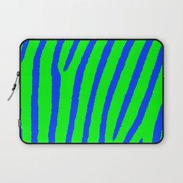 Zebra Print (Green & Blue) Laptop Sleeve