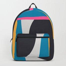 Modern Geometric 65 Blue Backpack