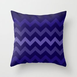 Deep Blue Gradient Chevron Throw Pillow