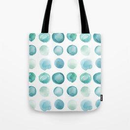 Blue Sea Glass Watercolor JUUL Tote Bag