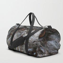 wet puppy portrait Duffle Bag