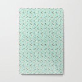 Raindrop Confetti Metal Print