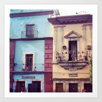 mexican Art Prints featuring Mexican houses by Olivier P.