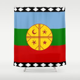 Flag of Mapuche Shower Curtain