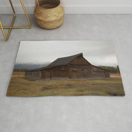 Old Barn in the Tetons Rug