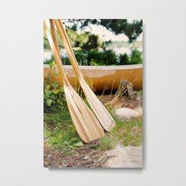 Canoe Paddles Boundary Waters Metal Print