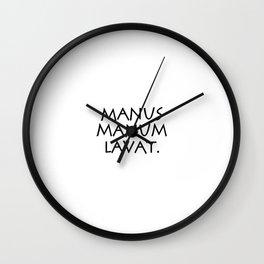 Manus manum lavat Wall Clock