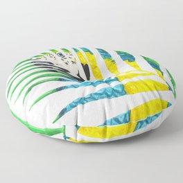 Parrot Palm Leaf Floor Pillow
