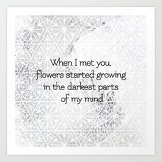 Flowers started growing Art Print