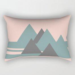 Peak Pink Grey Rectangular Pillow