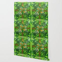 Green Celtic  Knot Square Wallpaper