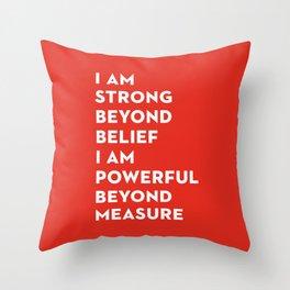 Strength&Power Throw Pillow