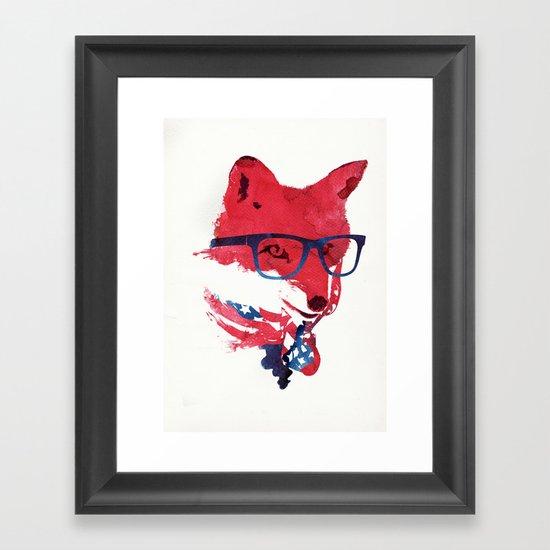 American Fox Framed Art Print