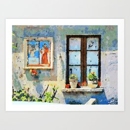 Catanzaro: saintly edicule and window Art Print