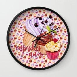 Cupcakes Yum! Wall Clock