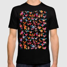 Birds Black X-LARGE Mens Fitted Tee