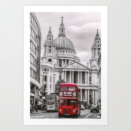 London Classic Bus Art Print