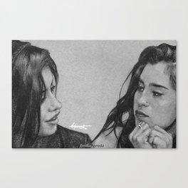 Camren Pencil Sketch  Canvas Print