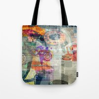 telephone Tote Bags featuring Telephone by Arken25