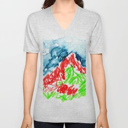 up to the hill Unisex V-Neck
