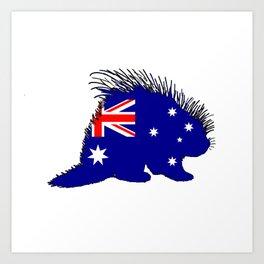 Australian Flag - Porcupine Art Print