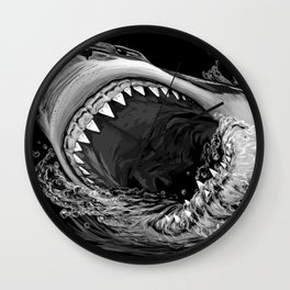 Shark Painting 2 Wall Clock