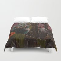 forrest Duvet Covers featuring Owl Forrest by Annelies202