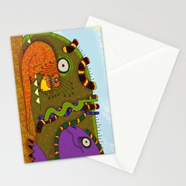 Iguanas and Snakes Stationery Cards