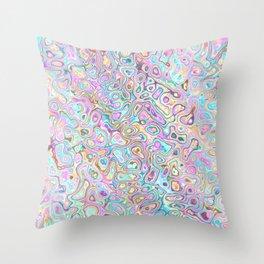Pastel Blobs Throw Pillow