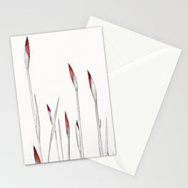 Red and White Spring Stationery Cards