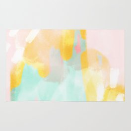 Soft Pastel summer abstract Rug