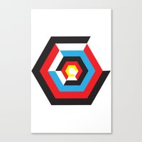 bauhaus Canvas Prints featuring Bauhaus by liz williams