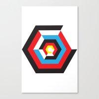bauhaus Canvas Prints featuring Bauhaus by liz williams
