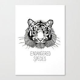 Endangered Species Tiger Canvas Print