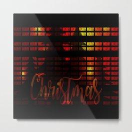 Christmas advent gloss sparkle Metal Print