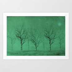 Winter Trees in the Mist Art Print