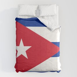 Cuba flag Comforters