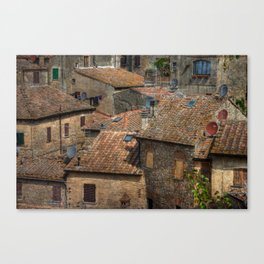 Volterra Rooftops Canvas Print