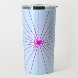 SpikeyBurst - Pastel Blue with Bright Pink Travel Mug
