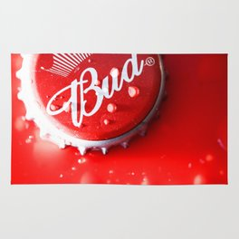 Budweiser Beer Bottle Cap with Condensation Rug