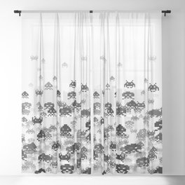 Invaded III B&W Sheer Curtain
