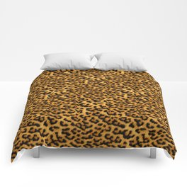 Chic Leopard Fur Fabric Comforters