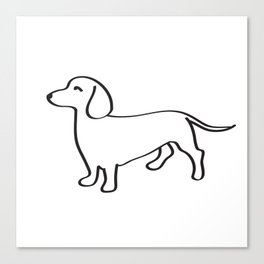 Doxie Love Canvas Print
