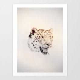 Leo the Leopard Art Print