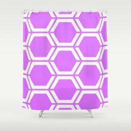Heliotrope - violet - Geometric Polygon Pattern Shower Curtain