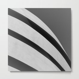 Blank Space | Modern Black and White Architecture Photography of New York City Metal Print