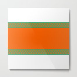 Aqua & Orange Metal Print