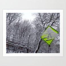 Xing path Art Print