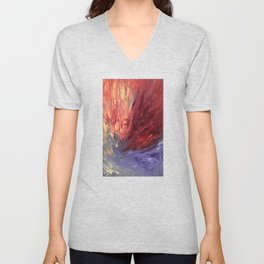 Abstract Untitled Creation by Robert S. Lee Unisex V-Neck